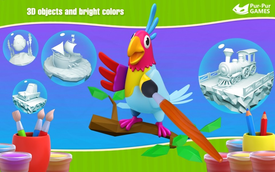 Image Cockatoo 3D Coloring