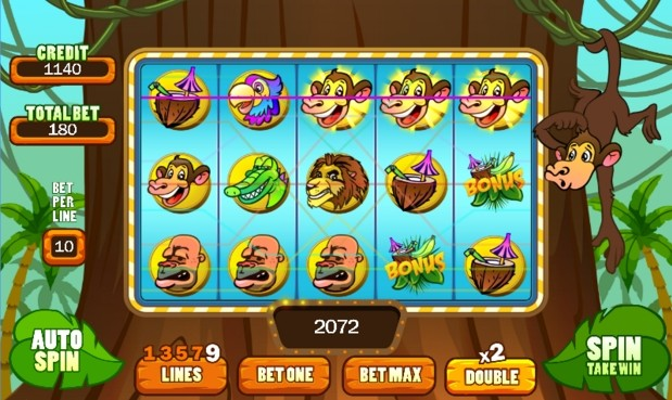 Image Monkey Slot Machine Mania