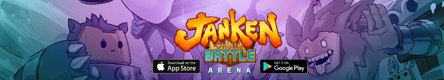 JanKen Battle Arena is a modernised version of the game rock paper scissors in which the fighters compete to become the grand Dojo master of Jan Ken Pon.