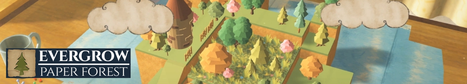 Evergrow is a heart-warming puzzle game about making the plains green again by guiding the paper rabbit to step onto each tile