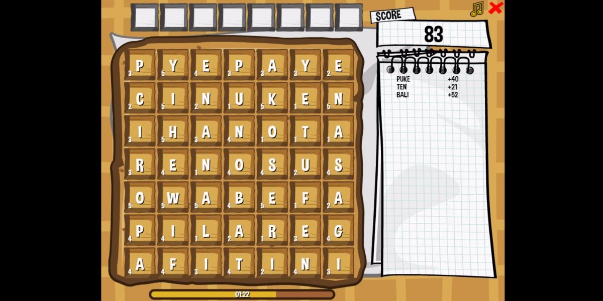 Image Waffle Word Game