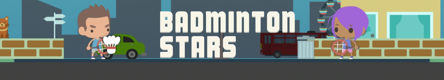 Badminton Stars is a game that will test your reaction and reflex while playing the wackiest and most intense badminton! Do you have the badminton in you?