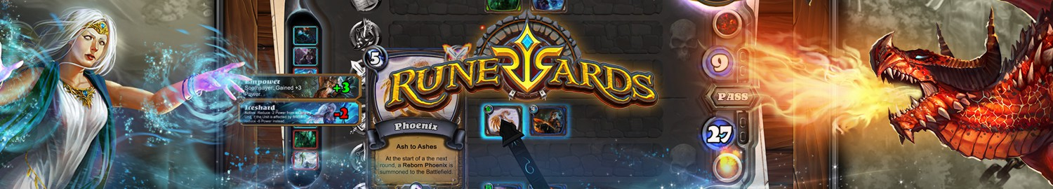 Runewards is an online strategy card game that will challenge your tactics and wits in order to win!
