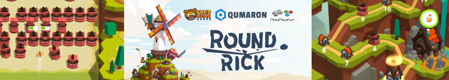 Round Rick is a steroid boosted brick breaker game that will be the next hottest arcade game since Arkanoid!