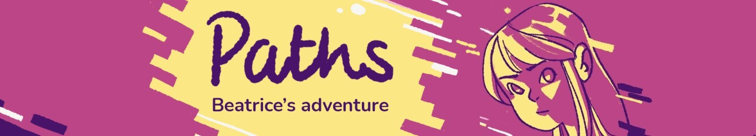 Paths: Beatrice Adventure is a story driven game with branching stories and multiple endings